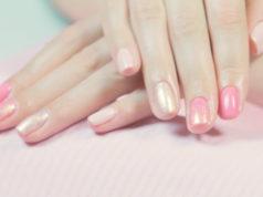 manicure hybrydowy z efektem syrenki