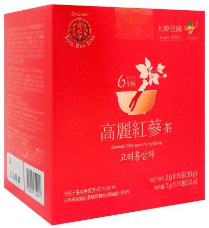 Herbatka z czerwonego żeń szenia