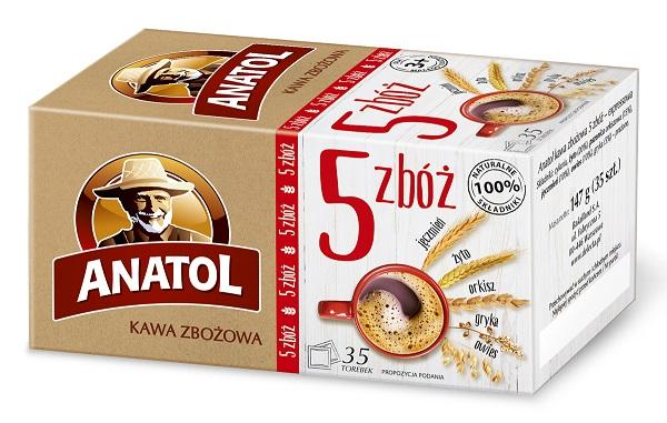 Anatol 5 zbóż - kawa zbożowa w saszetkach