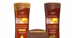 Szampon, odżywka i maska jajeczna do farbowanych i rozjaśnianych włosów