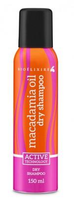 Bioelixire, suchy szampon Macadamia oil+collagen, ok. 20zł/150ml