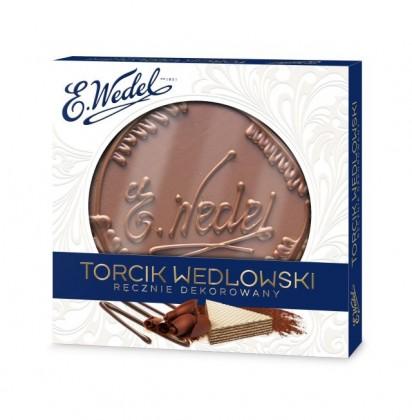 Torcik Wedlowski z dedykowanymi, ręcznie wykonanymi wzorami.