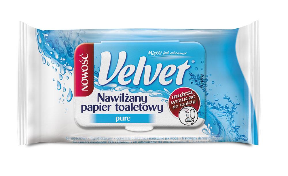 nawilzany papier toaletowy Velvet