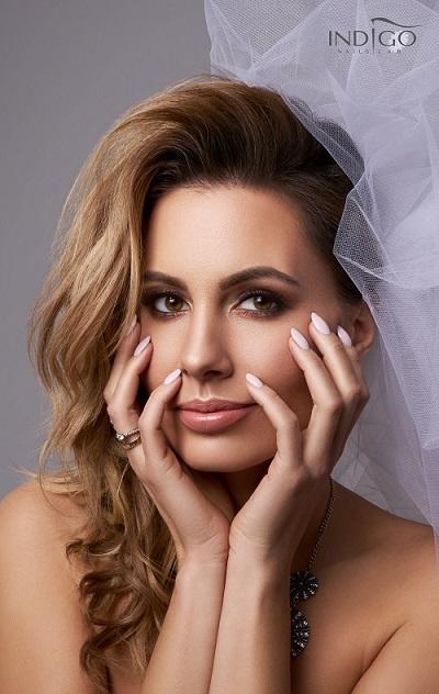 Agnieszka Hyży wedding indigo