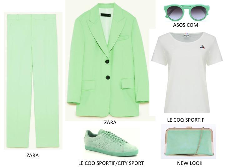 zielone stylizacje
